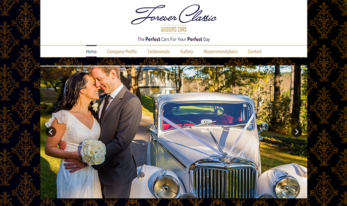 Forever Classic Wedding Cars Website Design