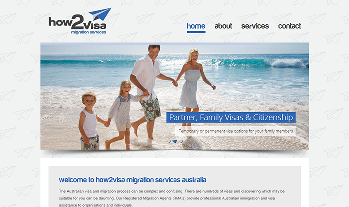 How2Visa Website Design