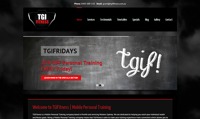 TGIF Website Design