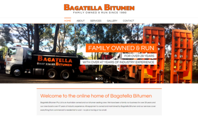 Bagatella Bitumen Website Design