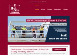 Health & Safety Advisory Service Website Design