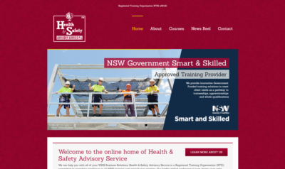 Health & Safety Advisory Service Website Design
