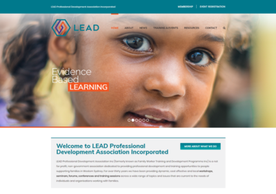 Lead Professional Development Association Inc Website Design