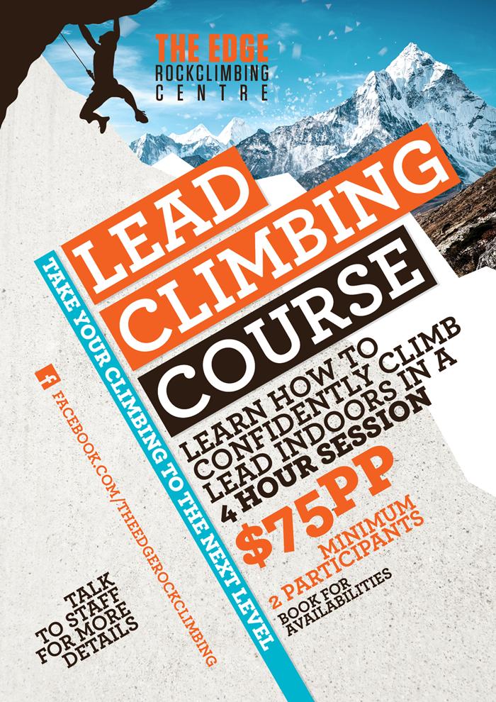 The Edge Rockclimbing Centre Poster Design