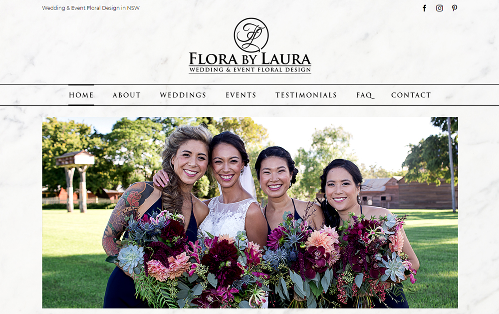 Flora By Laura Website Design