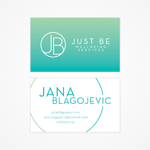 Just Be Wellbeing Business Card